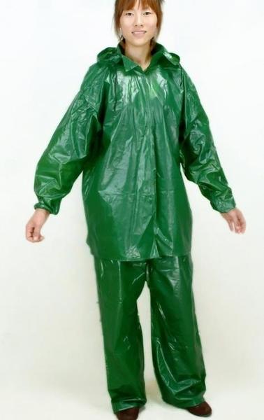 [協貿國際]牛筋分體套裝加厚雨衣雨褲成人戶1入
