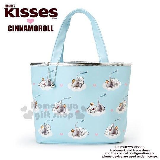 〔小禮堂〕大耳狗 Hershey s KISSES 皮質手提袋《藍》便當袋.肩背袋 4901610-38106