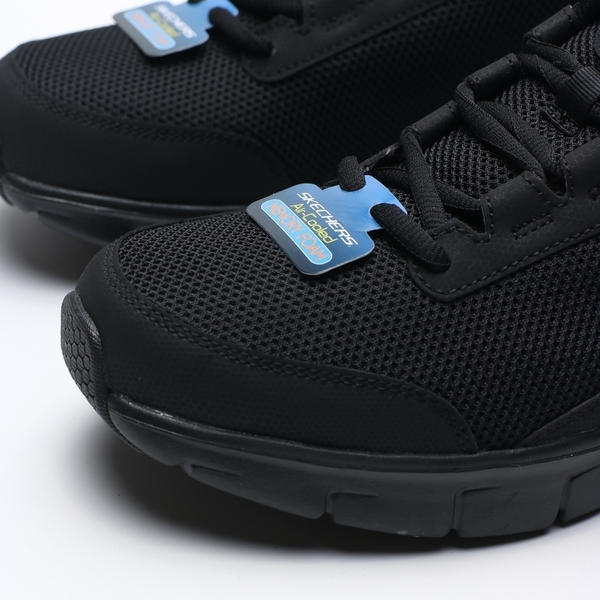 SKECHERS SYNERGY 3.0 全黑 網布 健走 休閒鞋 男 (布魯克林) 52585BBK