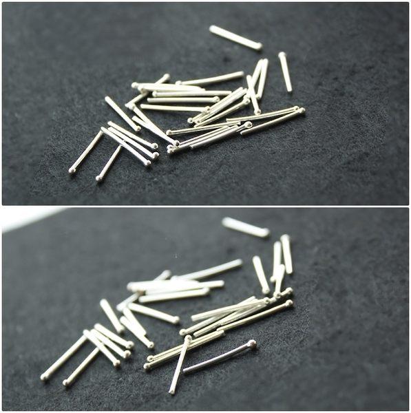 999千足純銀 小圓球耳棒  防抗過敏 不退色  養耳洞專用 一對價