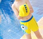 全館83折兒童泳褲男童平角泳衣游泳衣帶帽寶寶泳衣男孩分體泳裝中大童泳衣
