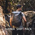 澳洲ALPAKA SHIFT PACK 防水多功能後背包 捲包 登山旅行都市輕旅必備 灰/藍