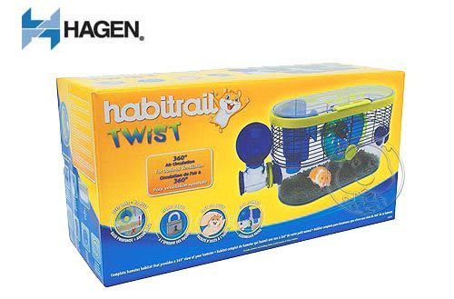 【 zoo寵物商城】《HAGEN 赫根》寵物鼠誕生系列360度視野環景屋送鼠砂1包