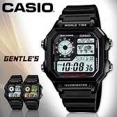 CASIO手錶專賣店 卡西歐  AE-1200WH-1A  男錶 白面 電子錶 防水100米 方形 LED燈 膠質錶帶