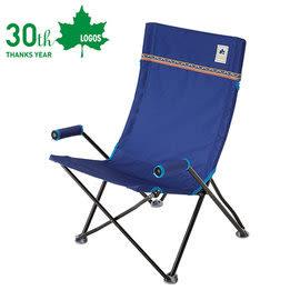 丹大戶外【LOGOS】日本 Neos高背休閒折疊椅 折疊椅/露營椅/輕便椅/戶外用椅 73174029 藍