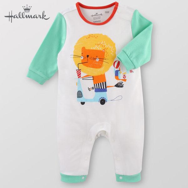 Hallmark Babies 摩托車兜風記春夏男嬰純棉長袖連身衣 HF1-B06-05-BB-ME
