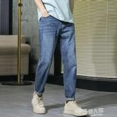 春夏季新款牛仔褲男直筒寬鬆韓版潮流百搭褲子男水洗復古休閒男褲