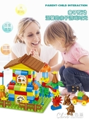 兒童積木拼裝玩具3-6周歲1-2益智男孩子7女寶寶8大顆粒10相容 七色堇