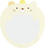 小禮堂 角落生物 貓咪 塑膠大圓扇保護套 透明扇套 圓相框 扇套 (黃 大臉) 4974413-76372