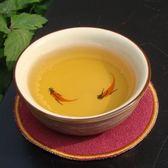 仿古手繪金魚五色普洱杯茶具(窯變冰融手繪魚普洱茶杯)