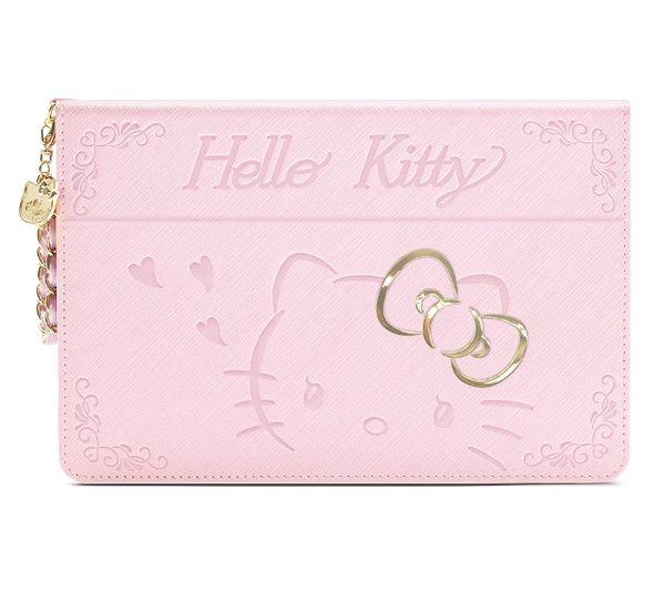 King*Shop~GARMMA Hello Kitty iPad mini 4摺疊式皮套–金豔粉 金豔桃