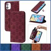 蘋果 iPhone12 Pro Max 12mini 12Pro 壓紋幸運花皮套 手機皮套 插卡 支架 磁吸 保護套
