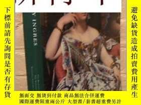 二手書博民逛書店稀缺,罕見《 世界著名畫家安格爾的肖像畫 》彩色與黑白插圖, 約