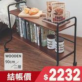 收納架 置物架 廚房架【X0054】沃克移動式兩層實木推車 MIT台灣製 收納專科