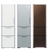 HITACHI【R-G41BL/RG41BL】日立394公升三門琉璃變頻冰箱 左開式 一級能效 急速冷凍 另有RG41 自動製冰