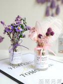 小清新勿忘我真花束ins裝飾家居擺設滿天星永生花干花帶花瓶禮物WD至簡元素