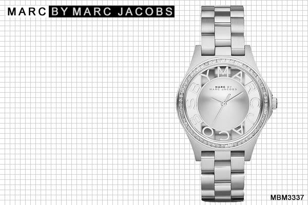 【時間道】[Marc Jacobs。錶]浮雕鏤空鑽圈系列腕錶-鑽框銀(MBM3337)免運費