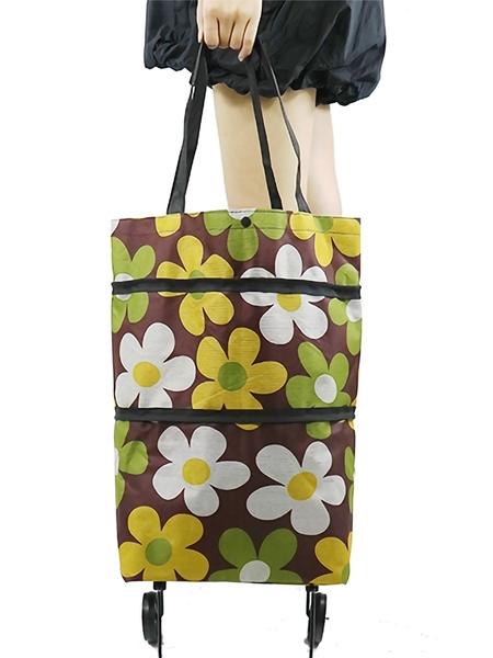 購物包 絲貝斯超市環保購物袋折疊便攜手提袋帶輪子買菜包拖輪袋子可伸縮【快速出貨八折搶購】
