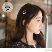 《ZB0641》韓國製~圓珠鑽飾愛心/圓圈/星星髮夾 OrangeBear