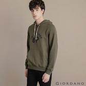 【GIORDANO】男裝CHECKS連帽T恤 - 32 葡萄葉綠