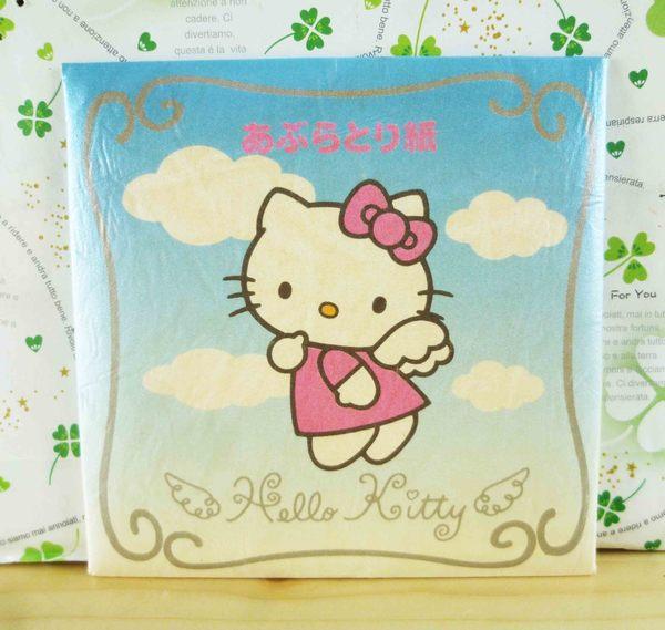 【震撼精品百貨】Hello Kitty 凱蒂貓-KITTY吸油面紙-藍天使圖案