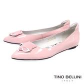 Tino Bellini 奇幻童趣詼諧小狐狸平底娃娃鞋_ 粉 B83264