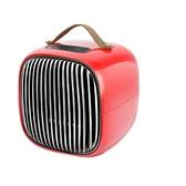 Invni Life 台灣 簡約美型暖風機 紅色 MEH-01 陶瓷發熱 皮革提把 斷電保護 智能監測溫度【易遨遊】