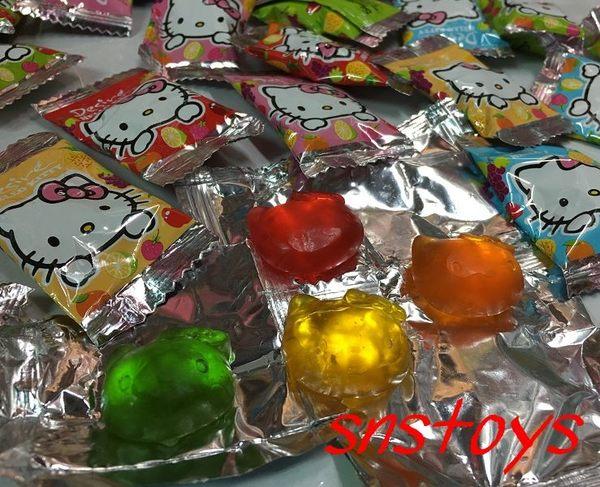 sns 古早味 乖乖 Kitty 造型水果軟糖 果汁QQ軟糖 水果QQ糖 3000公克約600顆(聖誕QQ糖 聖誕糖果)