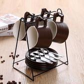 歐式陶瓷杯咖啡杯套裝 創意簡約家用馬克茶水杯   LY5665『時尚玩家』
