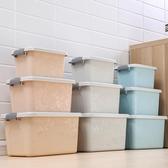 收納箱 印花收納箱衣物玩具整理箱加厚塑料特大號有蓋收納盒清倉三件套T