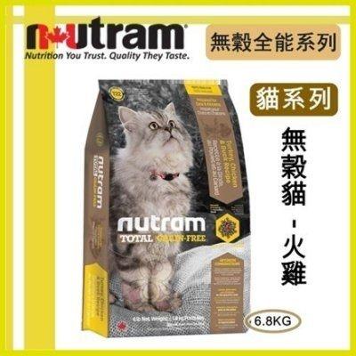 紐頓nutram《無穀-貓 火雞配方T22》6.8kg