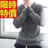 針織衫韓系粗毛線-加厚保暖純色男毛衣10色61l66【巴黎精品】