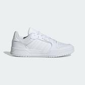 Adidas 男款白運動休閒鞋-NO.EH1865