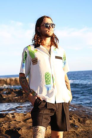 【GOZER Taiwan】CACTUS HAWAIIANSHIRT 仙人掌夏威夷短袖襯衫(白色)現貨