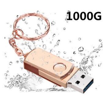 現貨「1000G巨大容量1TB」隨身碟u盤金屬旋轉1000g車載商務禮品手機電腦通用安卓接頭