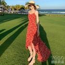 巴厘島沙灘裙女夏新款超仙旅游海邊度假連身裙海灘吊帶 洛小仙女鞋