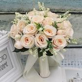 新娘韓式婚慶仿真加大手捧花結婚綠植花束影樓外景旅拍照道具 幸福第一站