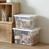 塑料收納箱置物箱透明儲物箱手提收納盒箱子大號有蓋yi【販衣小築】