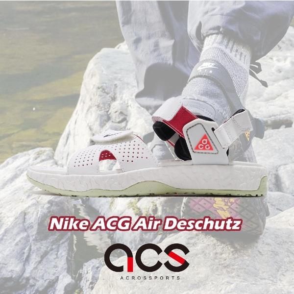 Nike 涼拖鞋 ACG Air Deschutz 米白 橘 男鞋 女鞋 復古 戶外風格 涼鞋 【ACS】 CT2890-001