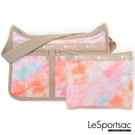 LeSportsac - Standard雙口袋A4大書包-附化妝包 (迷幻珊瑚) 7507P F638