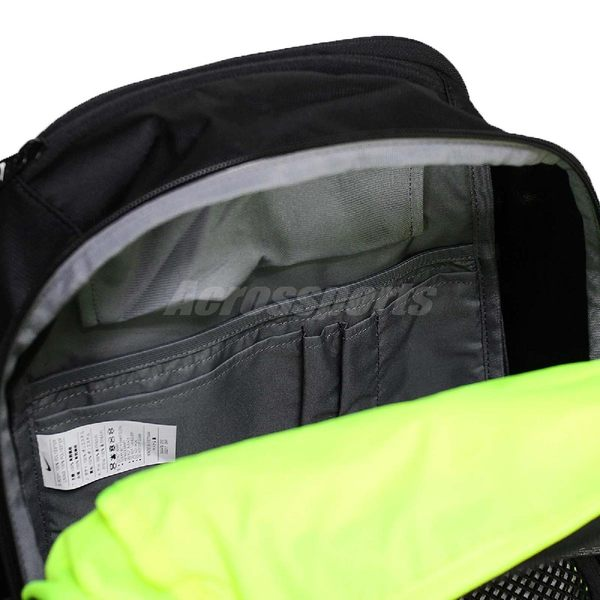 a407595ba4 Nike 後背包VAPOR POWER BACKPACK 雙肩背包包書包筆電包黑螢光綠男女款 ...