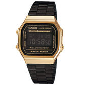 CASIO手錶黑金電子鋼錶NEC158