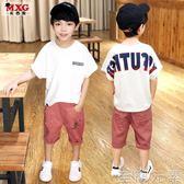 男童T恤兒童短袖T恤夏季新款 男童體恤韓版潮款中大童童裝寬鬆 至簡元素