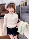 女童打底毛衣秋冬2020新款中女大童洋氣針織上衣兒童半高領打底衫