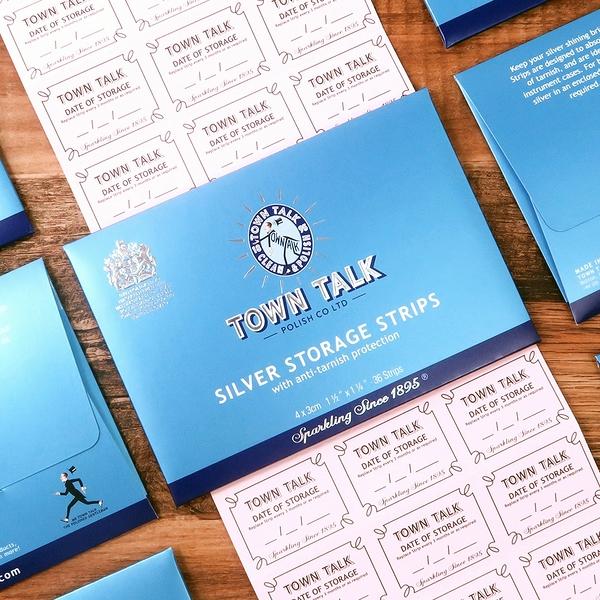 有效遏止純銀變色 銀器抗氧化保存片 英國Town talk 皇室認證 銀飾收納保存專用