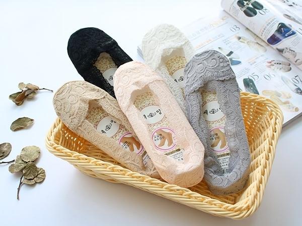 [協貿國際]春夏季士淺口隱襪子船襪蕾絲矽膠防滑防脫棉底短襪