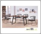 {{ 海中天休閒傢俱廣場 }} G-41 摩登時尚 餐桌椅系列 A405-01A 伯特工業風5.3尺餐桌椅組