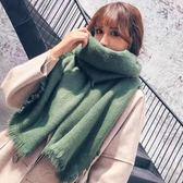 【REICO HSU 許瑋玲】刷毛流蘇圍巾(磚紅色 / 淺綠色)