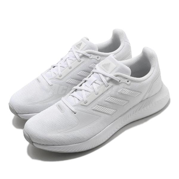 adidas 慢跑鞋 Runfalcon 2.0 白 全白 低筒 女鞋 休閒 運動鞋【ACS】 FY9621