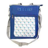 Backbager 背包族【ELLE Petite】心心相印系列補習袋/手提袋/購物袋_藍色